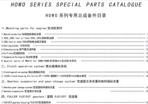 Howo Series Special Parts Contents